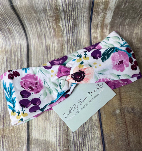 Orchid Floral Head Wrap