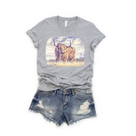 Highland Cow Tee (Youth & Adult)
