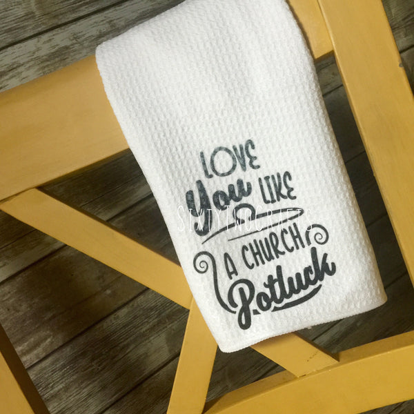 Church Potluck Kitchen Towel