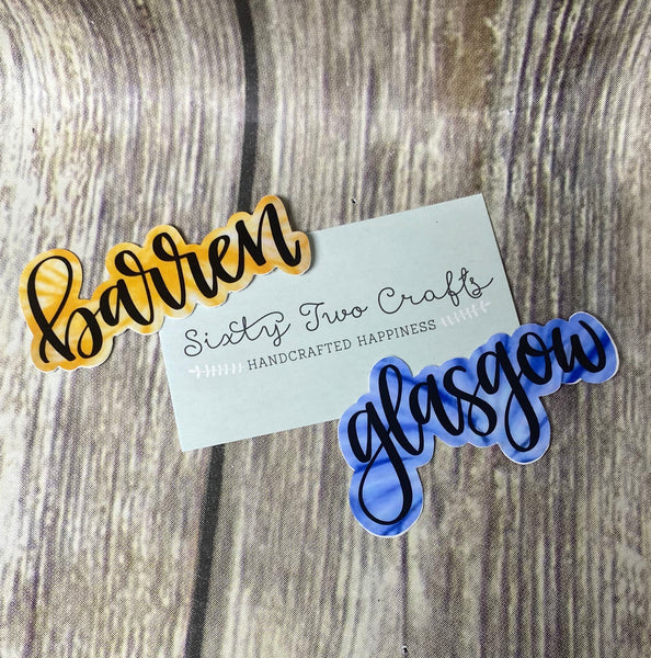 Barren or Glasgow Decal