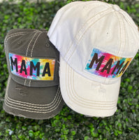 Mama Tie Dye Hat (Color Options)