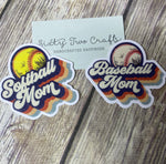 Baseball Mom or Softball Mom Decal