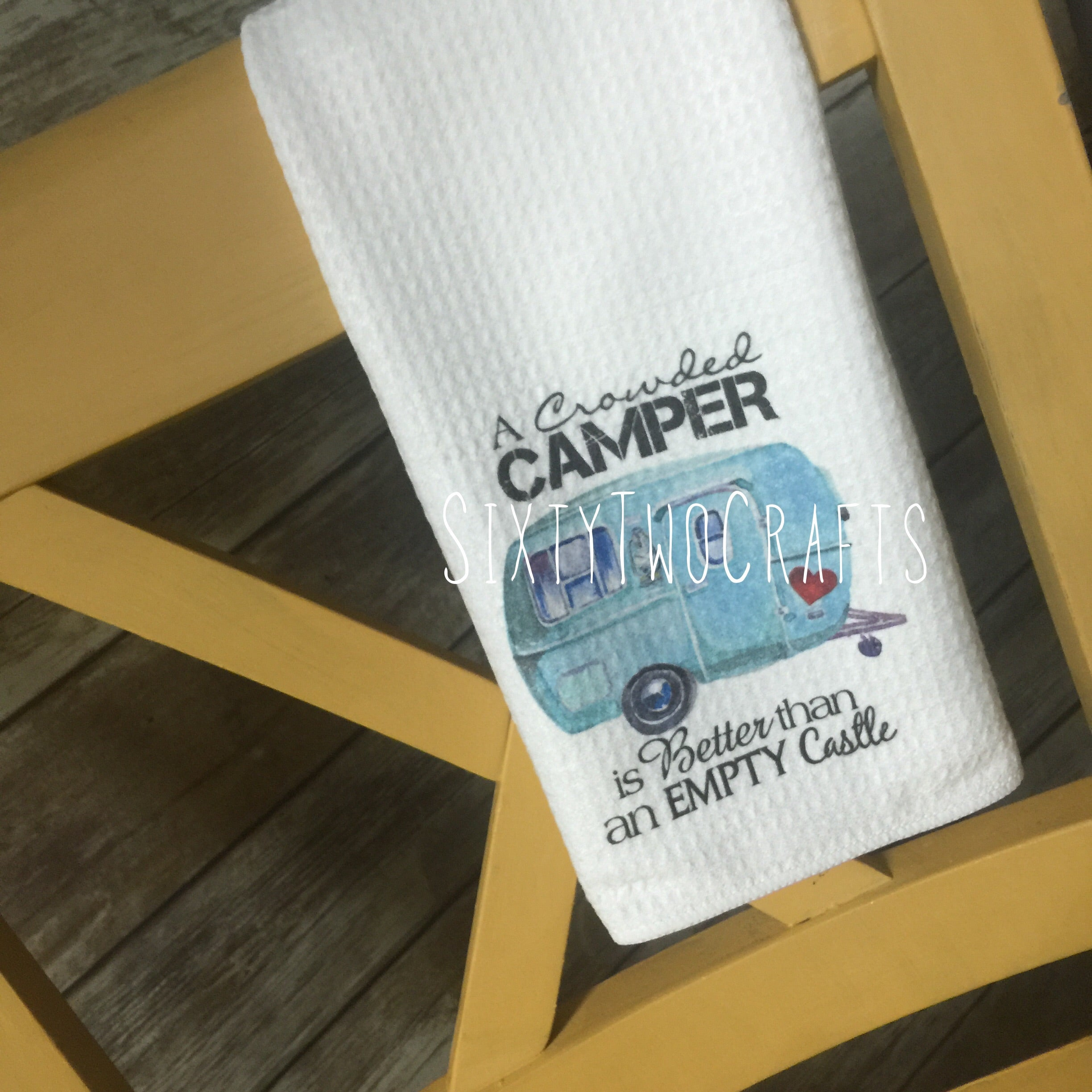 Crowded Camper Kitchen Towel