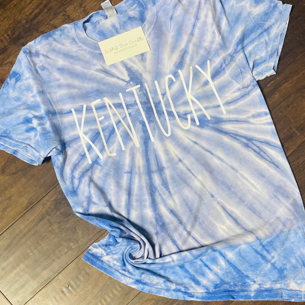 Kentucky Blue Tie Dye Tee
