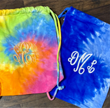 Tie Dye Drawstring Backpack (Color Options)  (Embroidery Optional)
