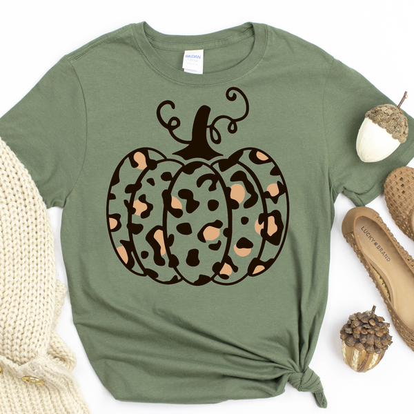 Leopard Pumpkin on Olive