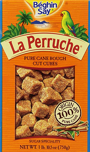Brown Pure Cane Sugar Cubes (la Perruche)