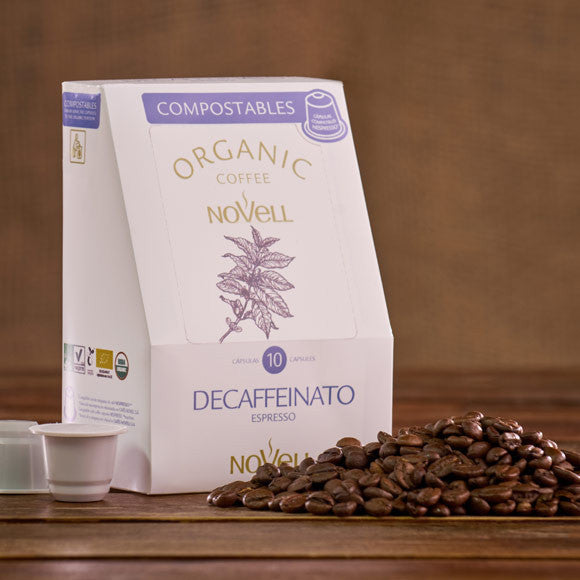 100% Compostable Nespresso Compatible Capsules: Decaf (Certified Organic)