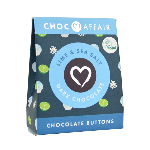 Lime and Sea Salt  buttons Chocolate Buttons 40g