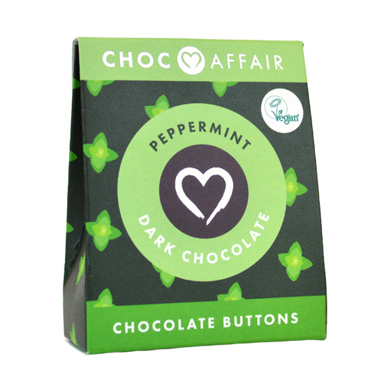 Dark Peppermint buttons Chocolate Buttons 40g