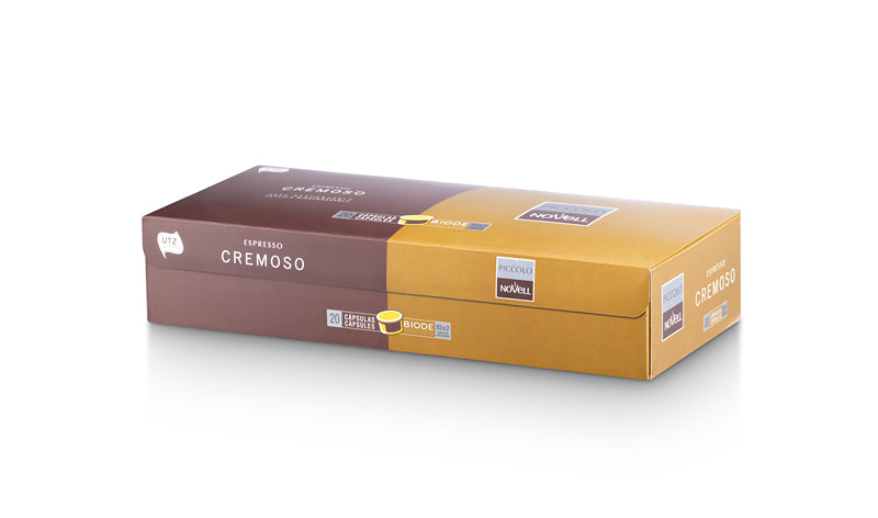 Capsules Cremoso Available in boxes of 20/70