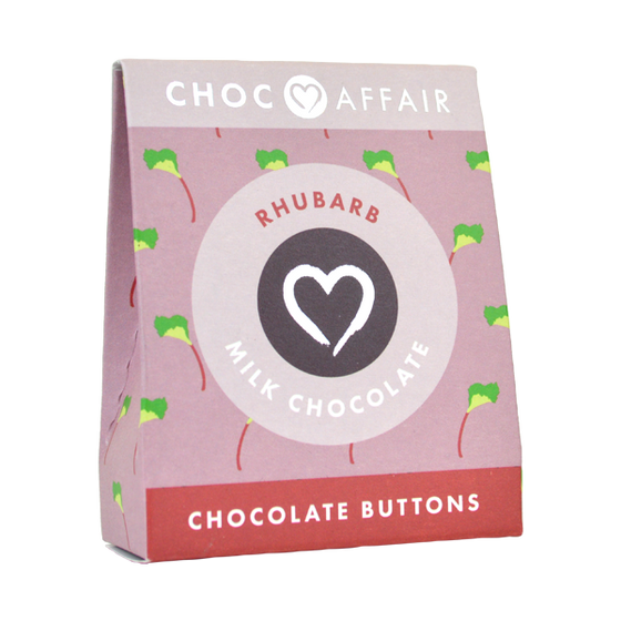 Rhubarb Chocolate Buttons 40g