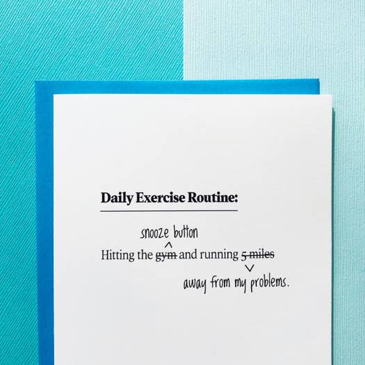 Card - Daily Exercise Routine