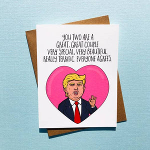 Card - Trump Wedding