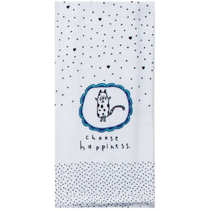 Tea Towel - Choose Happiness Cat