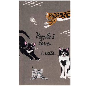 Tea Towel - People I Love: Cats
