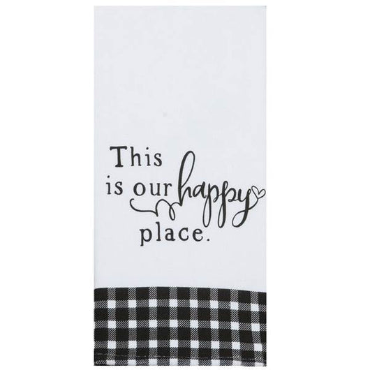 Tea Towel - This Is Our Happy Place - Dual Purpose