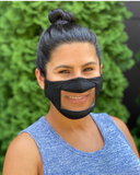 Reusable Smile Face Mask - Black