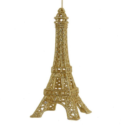 Twisted Goods Eiffel Tower Holiday / Christmas ornament Gold Sparkles from Kurt Adler
