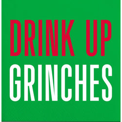 Holiday Cocktail Napkin - Drink Up Grinches