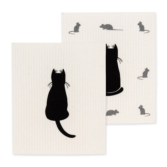 Swedish Dishcloth Set - Cat - Set of 2