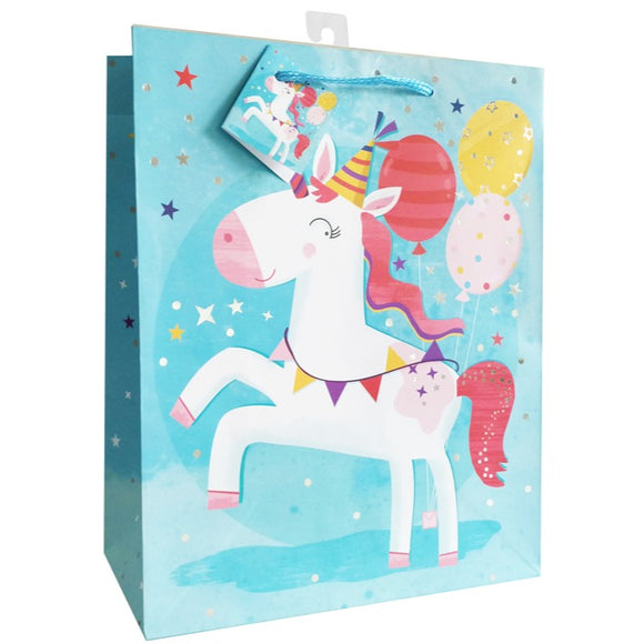 Medium Gift Bag - Party Unicorn