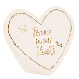 "Memorial Stone - Forever In Our Hearts - 3.5"" x 3"""