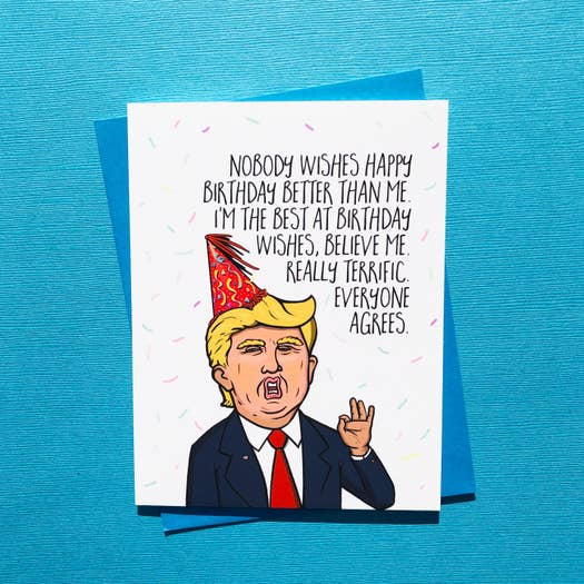 Card - Trump Best At Birthday