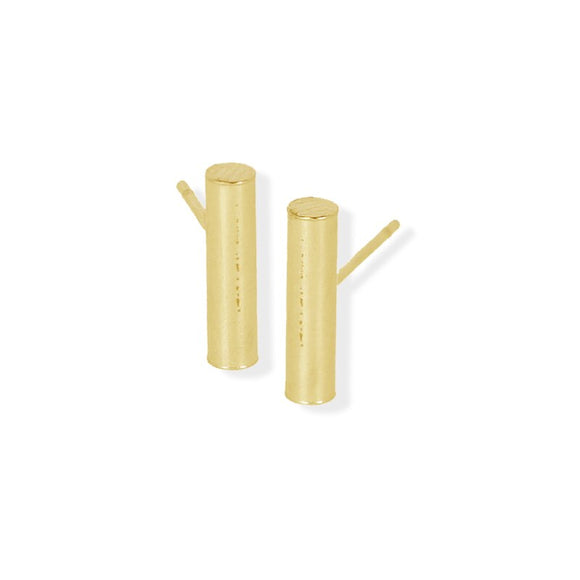 Stud Earring - Bar - Gold