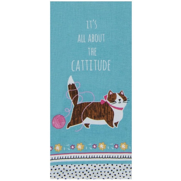 Tea Towel - It's All About The Catitude