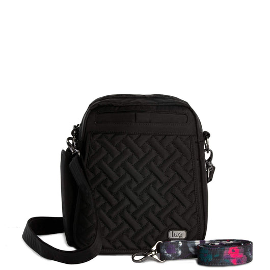 Lug - Flapper Cross-Body Bag - Brushed Black