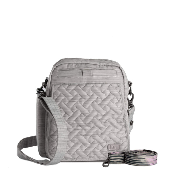 Lug - Flapper Cross-Body Bag - Brushed Silver