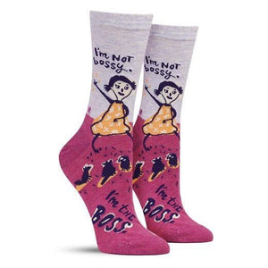 Socks - Women's Crew - I'm Not Bossy, I'm The Boss
