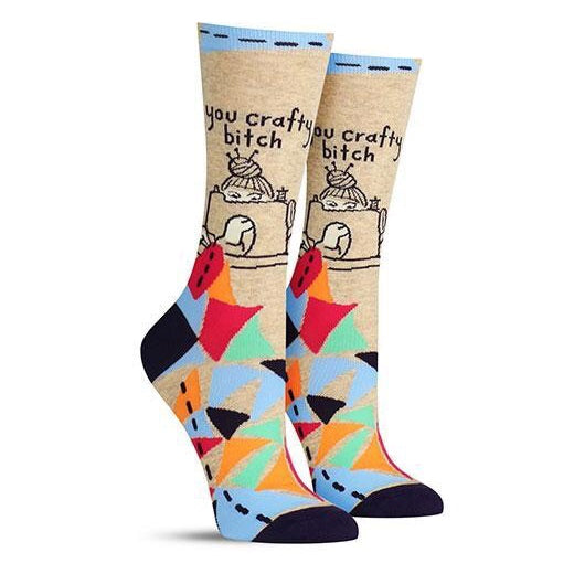 You Crafty Bitch Crew Socks
