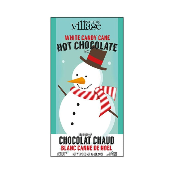 Hot Chocolate - White Candy Cane - Snowman