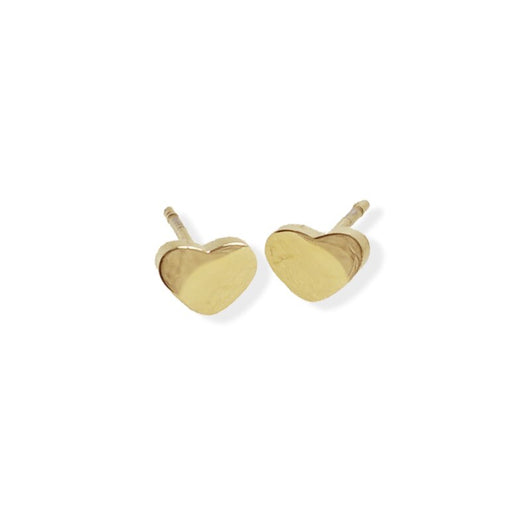 Stud Earring - Heart - Gold