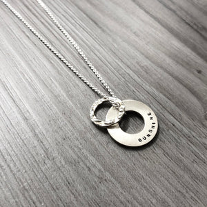 Necklace - Double Halo - You Are My Sunshine