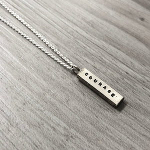 Necklace - One Word - Courage