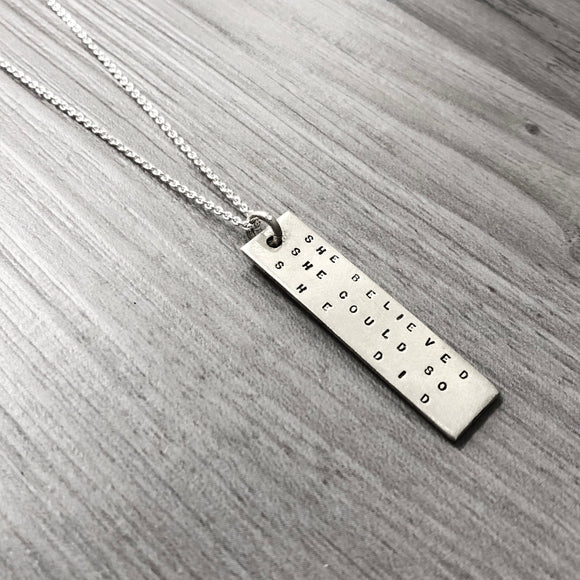 Necklace - Bookmark - She Believed She Could