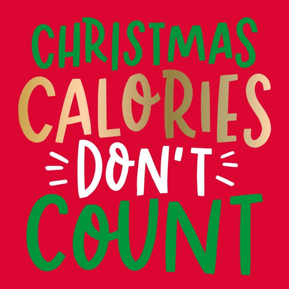 Holiday Cocktail Napkin - Christmas Calories
