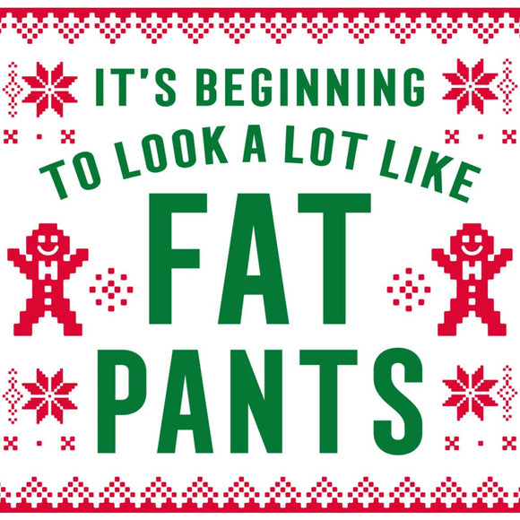 Holiday Cocktail Napkin - Fat Pants