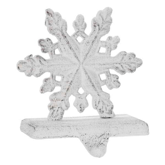 Stocking Holder - Snowflake White
