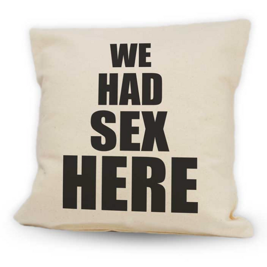 We Had Sex Here Pillow