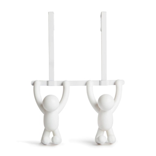 Double Buddy Over-The-Door Hook - White
