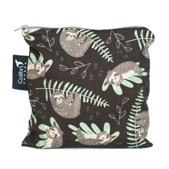 Reusable Snack Bag - Sloths - Large