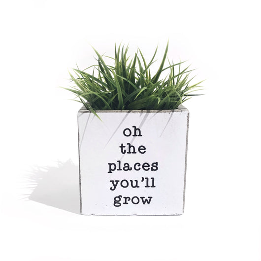 Planter - Oh The Places You'll Grow