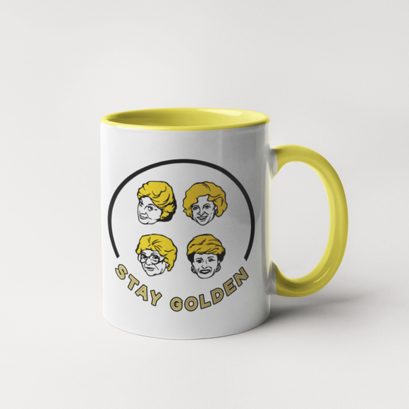 Inside colour: Yellow Material: Ceramic Dishwasher and Microwave Safe Mug by Calm Down Caren