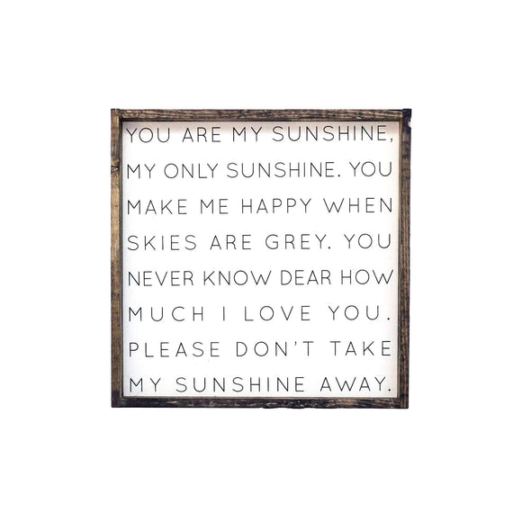 Williamrae Designs You Are My Sunshine