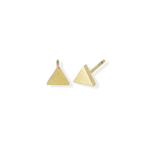 Stud Earring - Triangle - Gold