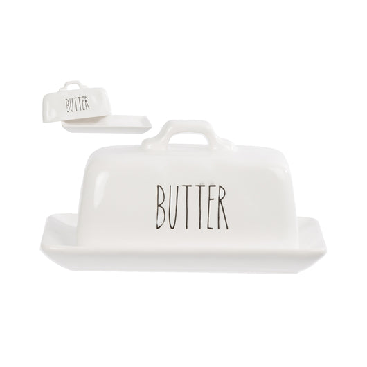 Farmhouse Ceramic Butter Dish